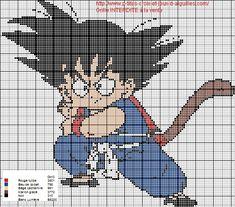 grilles point de croix et cie: Grille point de croix Dragon Ball Z