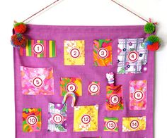 How To: Advent Calendar Wall Hanging