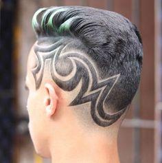 Hair Styles Men Short Hard Part Super Ideas Shaved Hair Designs, Chignon Hair, Blonde With Pink, Short Beard, Hairstyles With Bangs, Style Hairstyle, Hair Art, Men's Hair, Mens Hair Trends