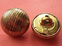 14 Metallknöpfe gold 12mm (5828) Knöpfe Metall