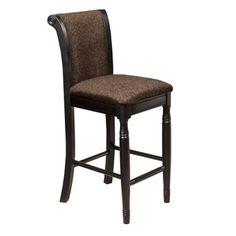 Gray Chenille Upholstered Bar Stool   Kirklands