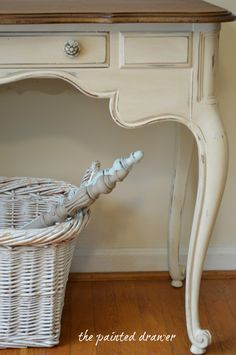 It's a Wash! | The Painted Drawer ASCP old ochre with old white wash