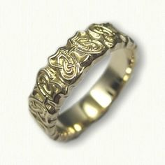 Celtic Butterfly Knot Wedding Band - sculpted edges  All Metals and Sizes Available