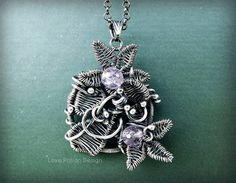 Wire Wrapped Sterling Silver Pendant Necklace by LovePotionDesign, €220.00