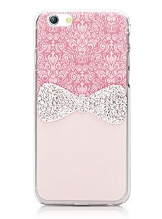 Unendlich U Fashion 3D Bling Strass Handyhülle Süße Schmetterling Knoten  Rosa Handy Schutzhülle Für IPhone