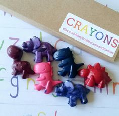 Crayons dinosaur crayons girl dinosaurs by CoffeeCupsAndDaisies