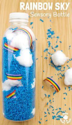 Gorgeous Rainbow Sky Sensory Bottles