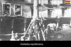 Spain - 1937. - GC - SOLDADOS REPUBLICANOS EN LA PLAZA DEL TORICO