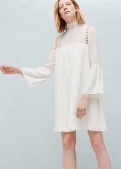 Flared sleeves dress - Dresses for Women | MANGO USA