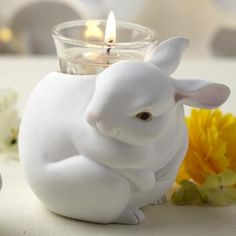 Directed: these bunnies were inspired to be in the round and chubby, and the first of a series of candle holders for Nature's Light.