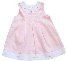 Fine white and pink embroidered girls dress with tucks and pink embroidery in the front. Made in peruvian cotton. Very luxurious. Flower Girl Dresses Country, Vintage Girls Dresses, Girls White Dress, Pink Dress, Stylish Baby Girls, Toddler Girl Dresses, Smocked Dresses, Clothes, Girl Stuff