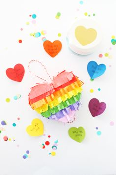 Love Note Heart Piñata by Laura Silva for We R Memory Keepers Mini Pinatas, Balloons And More, We R Memory Keepers, Love Notes, Diy Party, Your Best Friend, Thoughtful Gifts, Quilling, Card Making