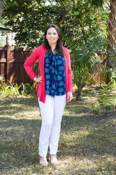 Stitch Fix February 2016 Review featuring Skies are Blue Ortega Open Knit Perforated Cardigan