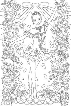 Beautiful Dress , clothes of the world 24 clothes -Japanese coloring book for anti stress Cute Coloring Pages, Christmas Coloring Pages, Printable Coloring Pages, Coloring Sheets, Coloring Books, Free Adult Coloring, Coloring Pages For Kids, Princess Coloring, Japanese Embroidery