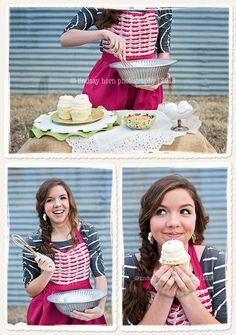 Cooking senior pictures. Baking senior pictures. Senior picture inspiration for bakers and cooks. #seniorpictureideas