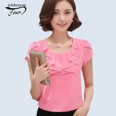 Cheap chemise femme, Buy Quality ladies chiffon blouses directly from China chiffon blouse Suppliers: Women Blouse New 2017 Fashion Office Shirts Blouses Elegant Ladies Chiffon Blouse Short Sleeve Womens Tops Chemise Femme 43 Classy Work Outfits, Classy Clothes, The Office Shirts, Aliexpress, Elegant Woman, Fashion 2017, Fashion Women, Shirt Blouses, Blouses For Women