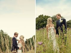 English Country Wedding: Rose + Robin  Dosing myself up on antihistamine to withstand the meadow photos!