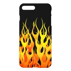 Classic Racing Flames on Black iPhone 8 Plus/7 Plus Case  firefighter love, baby firefighter outfit, firefighter baby pictures #fireservice #futurepoliceofficer #carnevale2019