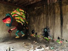 """Age of Omuktlans"" Streetart & Artworks based on mexican culture by El Curiot .xx."