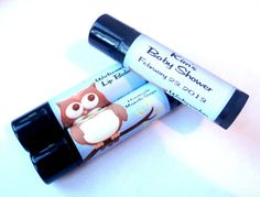 OWL Themed Lip Balms  Personalized Baby Shower Favors by MajesticSoaps, $1.00