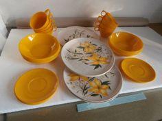 REDUCED   Vintage Melamine Dinnerware / by DavidsTreasures on Etsy, $19.50