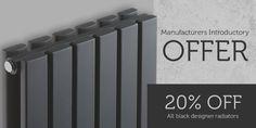 Right now get 20% off all black designer radiators at Treushopping #SALE