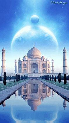 Animation 003 by DarkAngel Beautiful Buildings, Beautiful Places, Cool Live Wallpapers, Le Taj Mahal, Mekka, Islamic Wallpaper, Belle Villa, Fantasy Places, Tourist Places