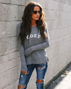9c00030efb677 The Cozy Cotton Blend Long Sleeve Top is our favorite. VICI