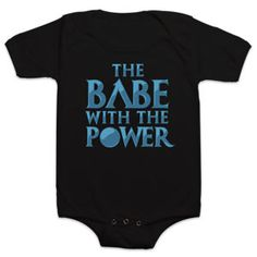 Can an infant be embarrassed by a parent? Because I think putting them in a onesie that references a David Bowie song and a cheesy 80s movie might do it. I hope not, because I need this.