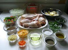 seco de pollo mise en place