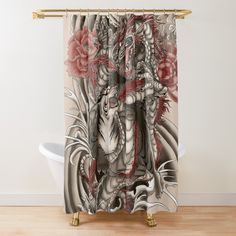 Animal Print Curtains, Printed Curtains, Asian Curtains, Top Artists, Asian Art, Household, Dragon, Shower, Art Prints