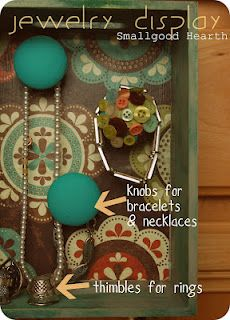 love the knobs to hold bracelets & necklaces