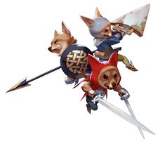 ArtStation - Shiba Three Musketeers, Junseok Kwon