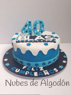 Tarta fondant 40 cumpleaños