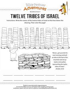 Bible Worksheet: Twelve Tribes of Israel | Free Download