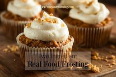 Celebrations and cake go together. You don't have to abandon your healthy eating with this real food frosting that is simple and delicious.