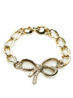 Nola Singer -  Rhinestone Bow Bracelet