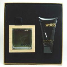 Estuche promocional del #perfume para hombre He Wood de la firma #Dsquared