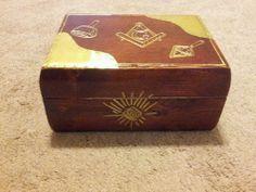 Custom masonic mason cigar humidor