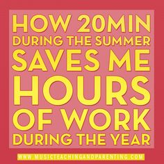 Summer Planning for Teachers: How doing a little bit of work in the summer can save time!