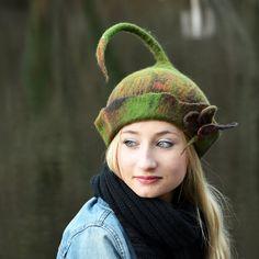 Handmade Felt hats Unique Felt Hats  Felted hats Pixie by jannio