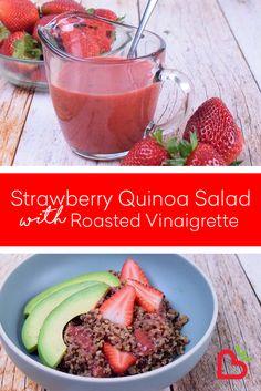 Strawberry Vinaigrette, Strawberry Recipes, Roasted Strawberries, Cantaloupe, Fresh, Food, Baked Strawberries, Meal, Essen