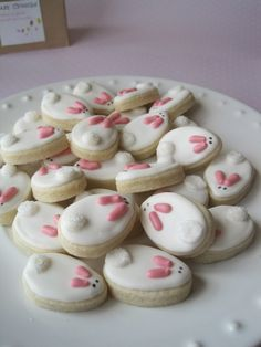 Miniature Bunny Cookies (by Ella/Etsy)