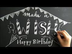 キッズのバースデーパーティーにも大活躍の黒板、チョークアート(DIY.Birthday.chalkboard)