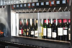 'By the Glass' wine dispenser from our Gastown location - the dispenser holds reds at a perfect 16 degrees and whites at the ideal 6 degrees, celsius of course.
