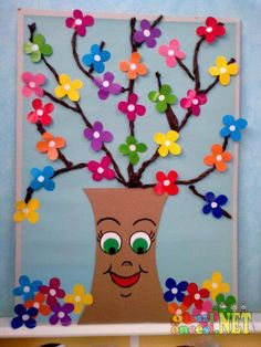 Spring Craft Ideas for Kids - Preschool and Kindergarten preschool spring crafts Spring Crafts For Kids, Summer Crafts, Art For Kids, Diy And Crafts, Arts And Crafts, Paper Crafts, Craft Activities, Preschool Crafts, Kids Crafts