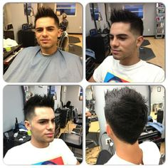 Mens hair cut short on sides and longer on top. Hair by Paola Lugo. Duncan Edward- Progressive European Hair Design in Madison, WI. www.duncanedward.com #duncanedward #menshair #beforeandafter #moderncuts #barber