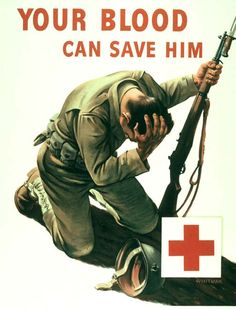 WWII poster  Blood Drive