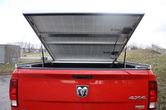 Rear view showing the two solar panels. Take your power to where you need it. No need for a generator.