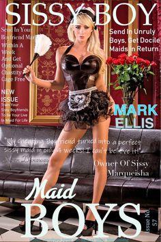 Online Magazine Subscriptions, Cheating Boyfriend, Transgender Captions, French Maid Costume, Sissy Boy, Sissy Maids, Chastity Cage, Popular Magazine, Sexy Latex